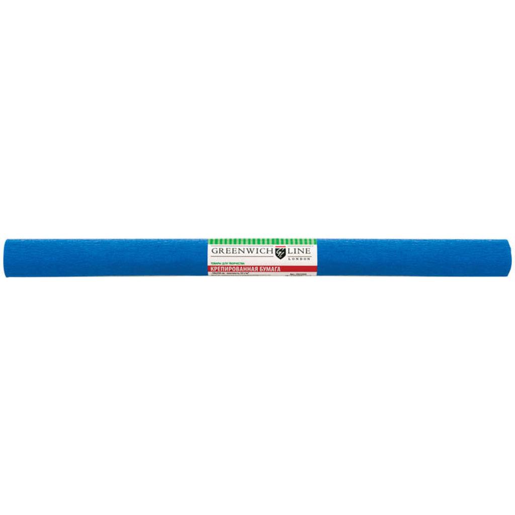Бумага крепированная цветная: Бумага креп. Greenwich Line,50*250см,32г/м2, синяя в рулоне GR25054 в Шедевр, художественный салон