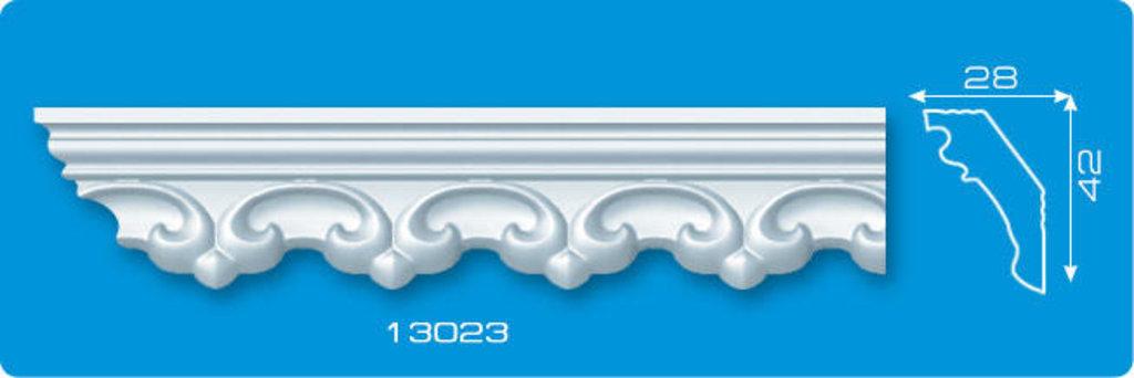 Плинтуса потолочные: Плинтус потолочный ФОРМАТ 13023 инжекционный длина 1,3м, узкий в Мир Потолков