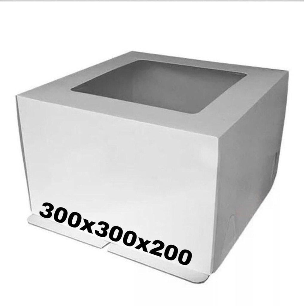Упаковка: Коробка под торт 300х300х200 с окном в ТортExpress