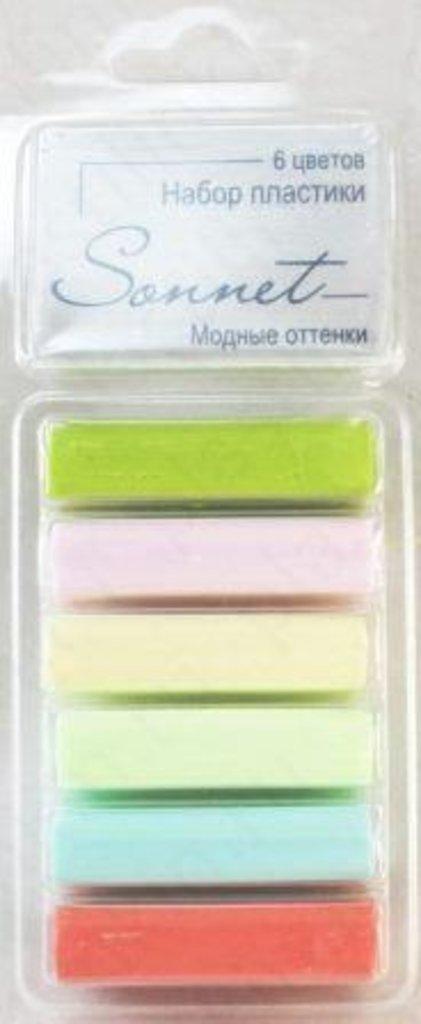 """Sonnet пластика цветная: Набор пластики """"Sonnet"""" Модные оттенки 6 цветов , 120гр в Шедевр, художественный салон"""