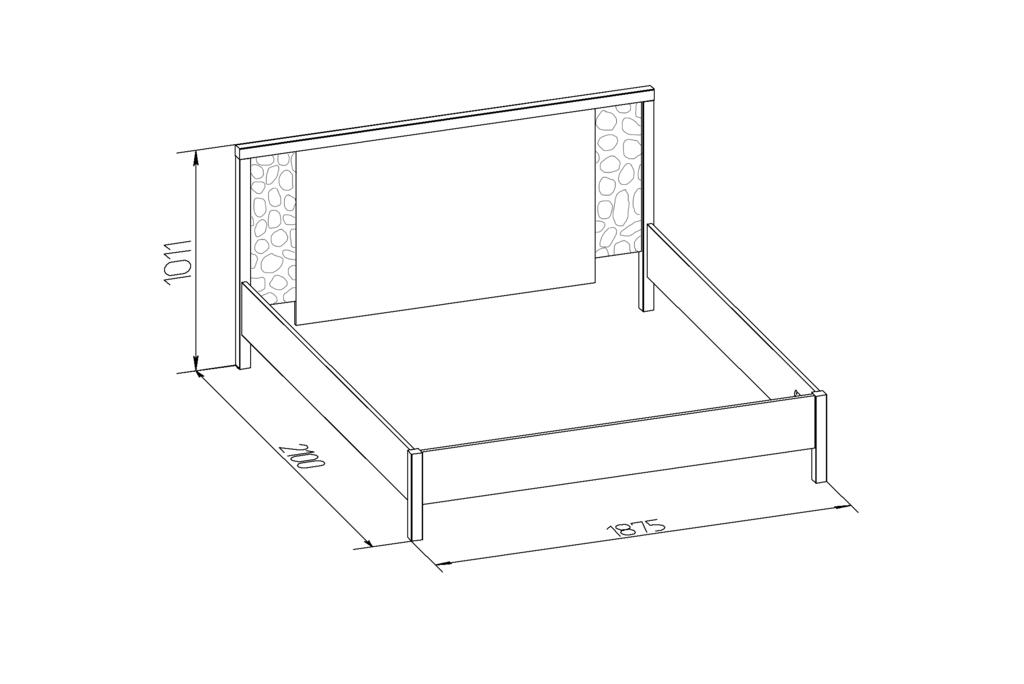 Кровати: Кровать WYSPAA 21 (1800, орт. осн. металл) в Стильная мебель