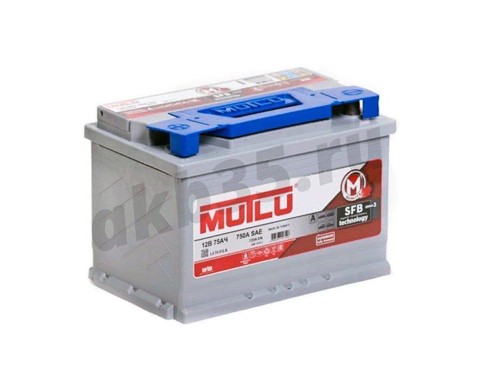 Аккумуляторы: MUTLU 75 А/ч Прямой SFB в Планета АКБ