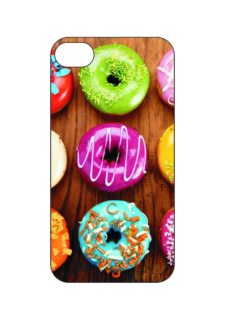 Выбери готовый дизайн для своей модели телефона: Пончики в NeoPlastic