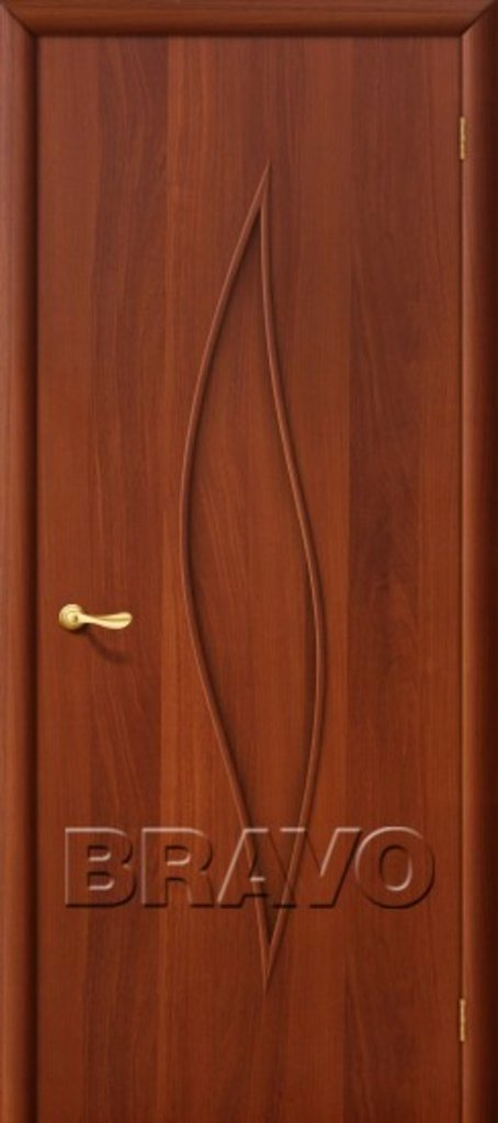 Двери ламинированные BRAVO: 12Г Л-11 (ИталОрех) в STEKLOMASTER