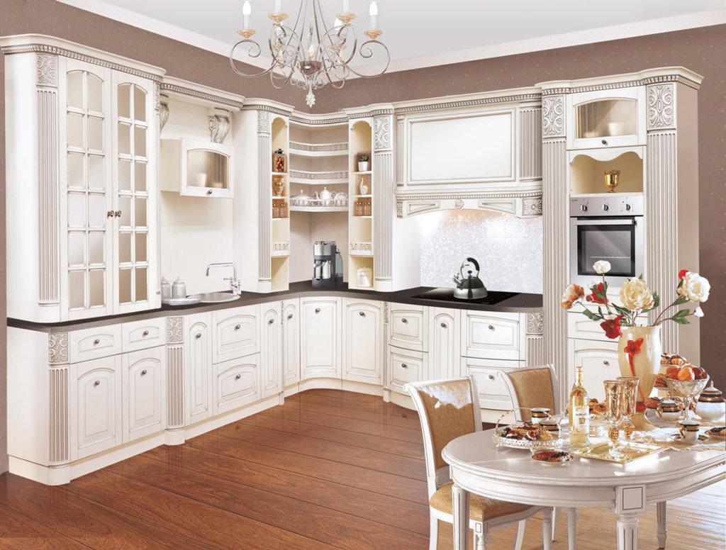 Кухни: Кухня из массива ясеня Т512-118 в Стильная мебель