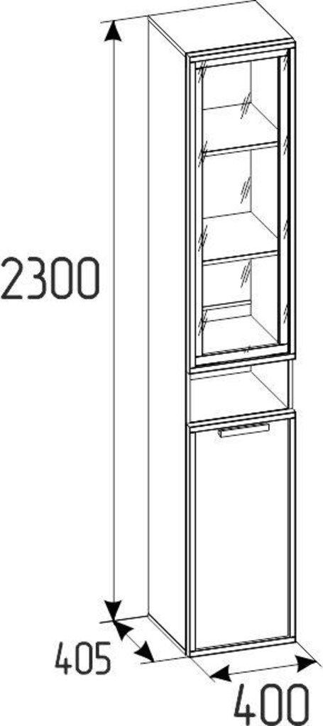 Детские шкафы и стеллажи: Шкаф МЦН Nature 82 в Стильная мебель