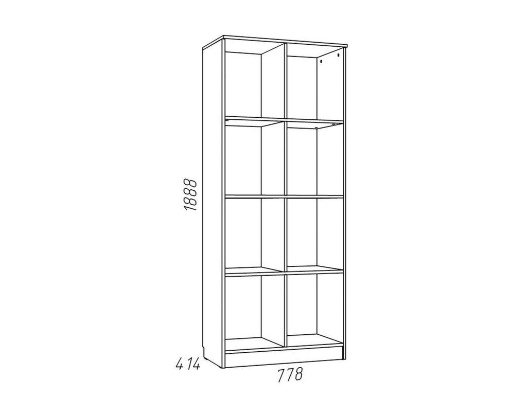Детские шкафы и стеллажи: Шкаф для книг НМ 009.06 ММ Рико-М в Стильная мебель