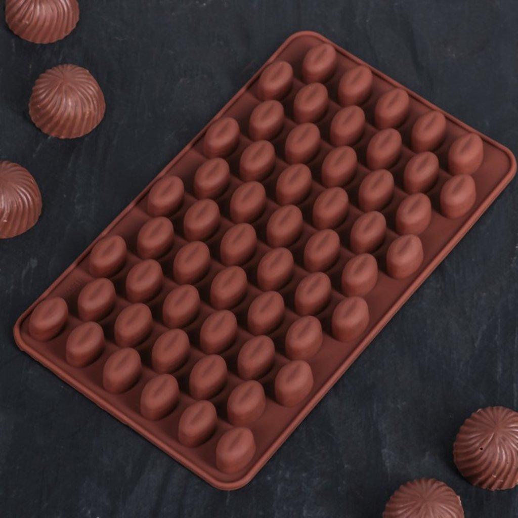 """Силиконовые формы для льда, шоколада и мармелада: Силиконовая форма для льда и шоколада """"Кофейные бобы"""" в ТортExpress"""