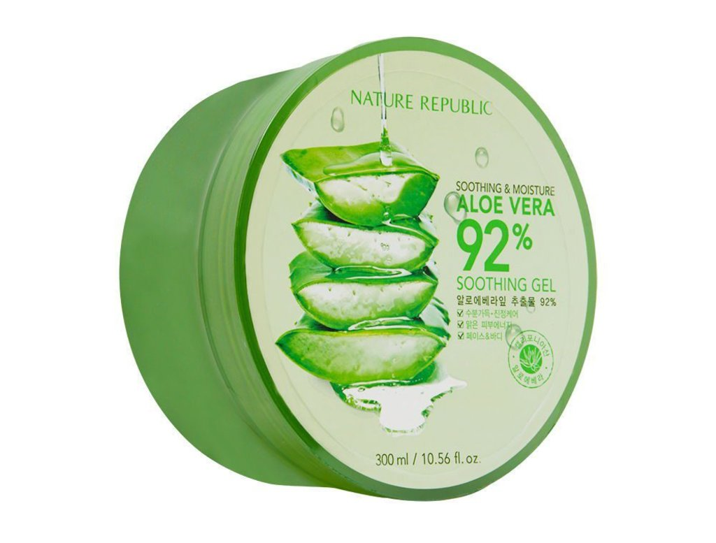 Крема, гели: Универсальный гель с алоэ Soothing&Moisture Aloe Vera 92% Soothing Gel 300мл в Мой флакон