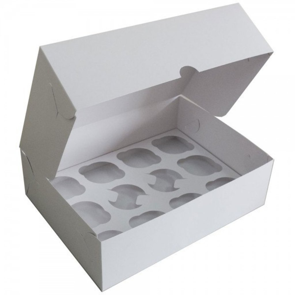 Упаковка: Коробка для 12 капкейков в ТортExpress