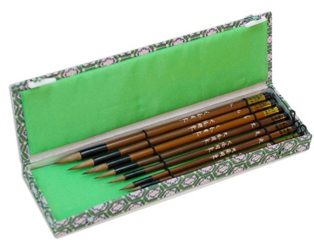 Каллиграфия: Набор кистей для каллиграфии, 7шт ,куница, бамбук в Шедевр, художественный салон