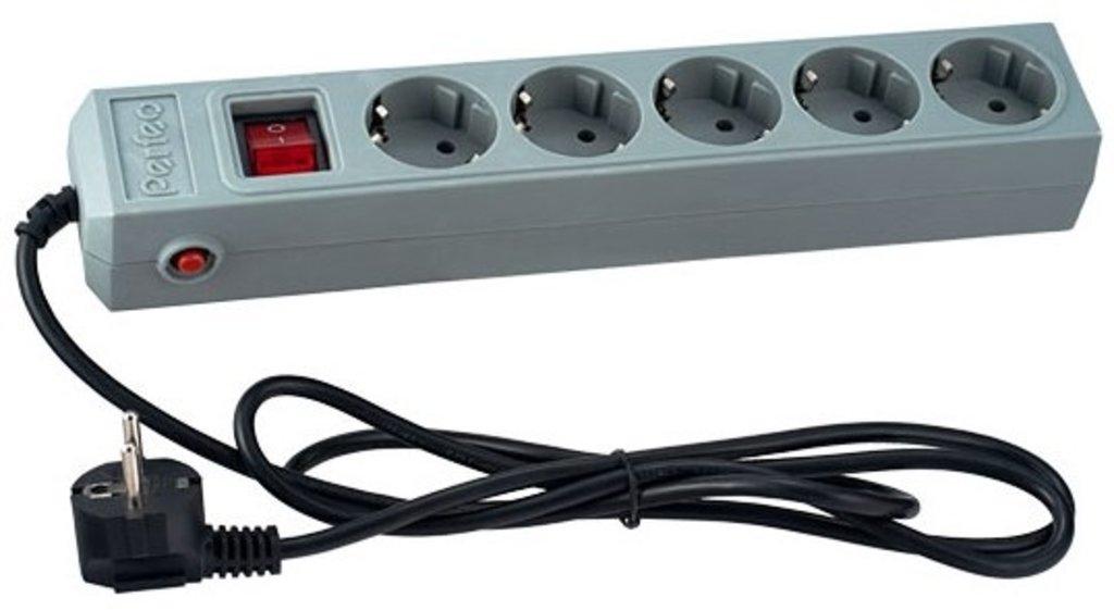 Сетевые фильтры, удлиннители, тройники, клеммы: Сетевой фильтр, 1,8м, 5 розеток, серый. ( Perfeo PF-SP-5/1,8-G ) в A-Центр Пульты ДУ