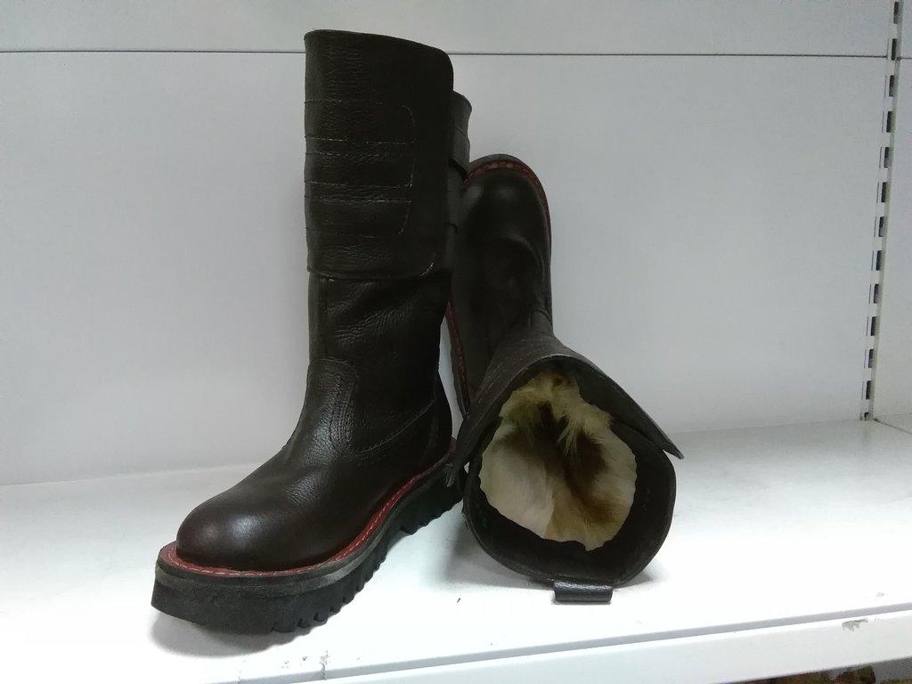 Унты, сапоги мужские: Сапоги Luter мужские 2 ремешка коричневые в Сельский магазин