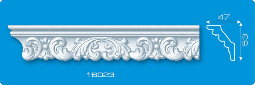 Плинтуса потолочные: Плинтус потолочный ФОРМАТ 16023 инжекционный длина 1,3м, средний в Мир Потолков