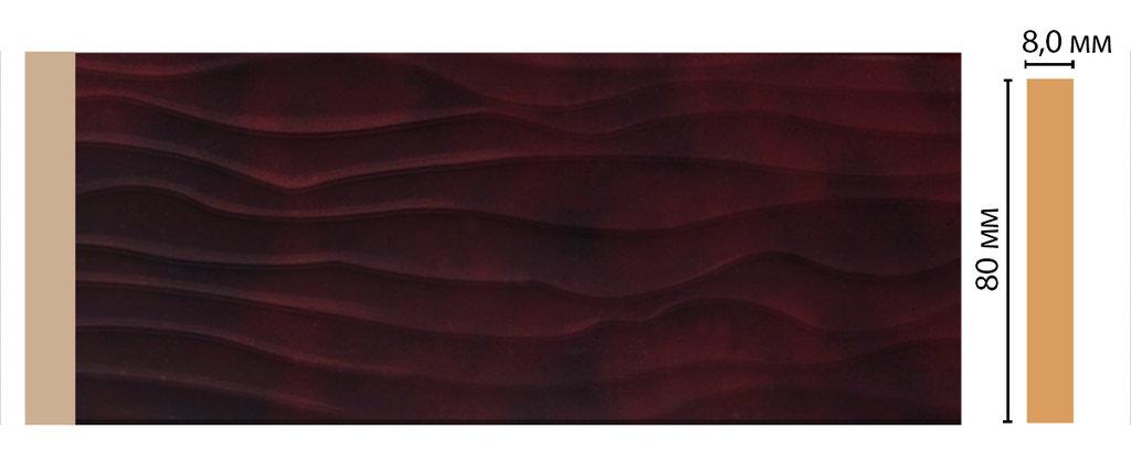 Молдинги: Цветной молдинг DECOMASTER D042-62 (80*8*2400) в Мир Потолков