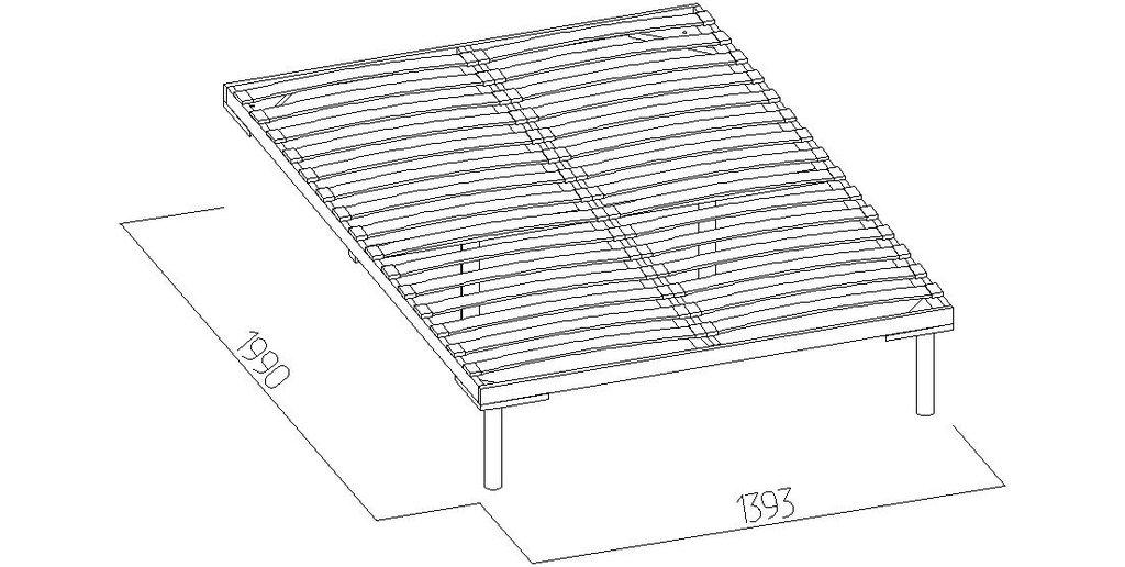 Кровати: Кровать Люкс Бриз 38 (1400, орт. осн. дерево) в Стильная мебель