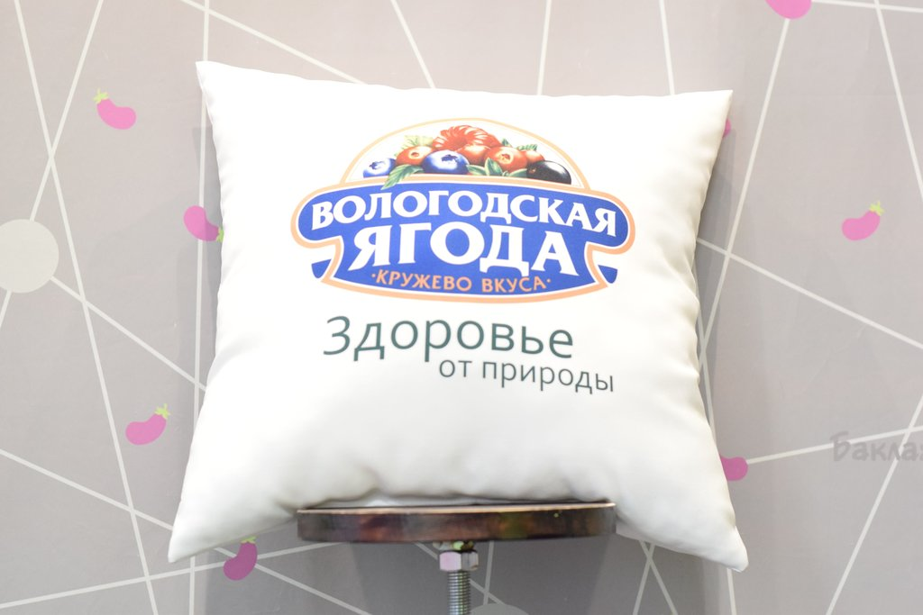 Декоративные подушки: Подушка сублимационная в Баклажан, студия вышивки и дизайна
