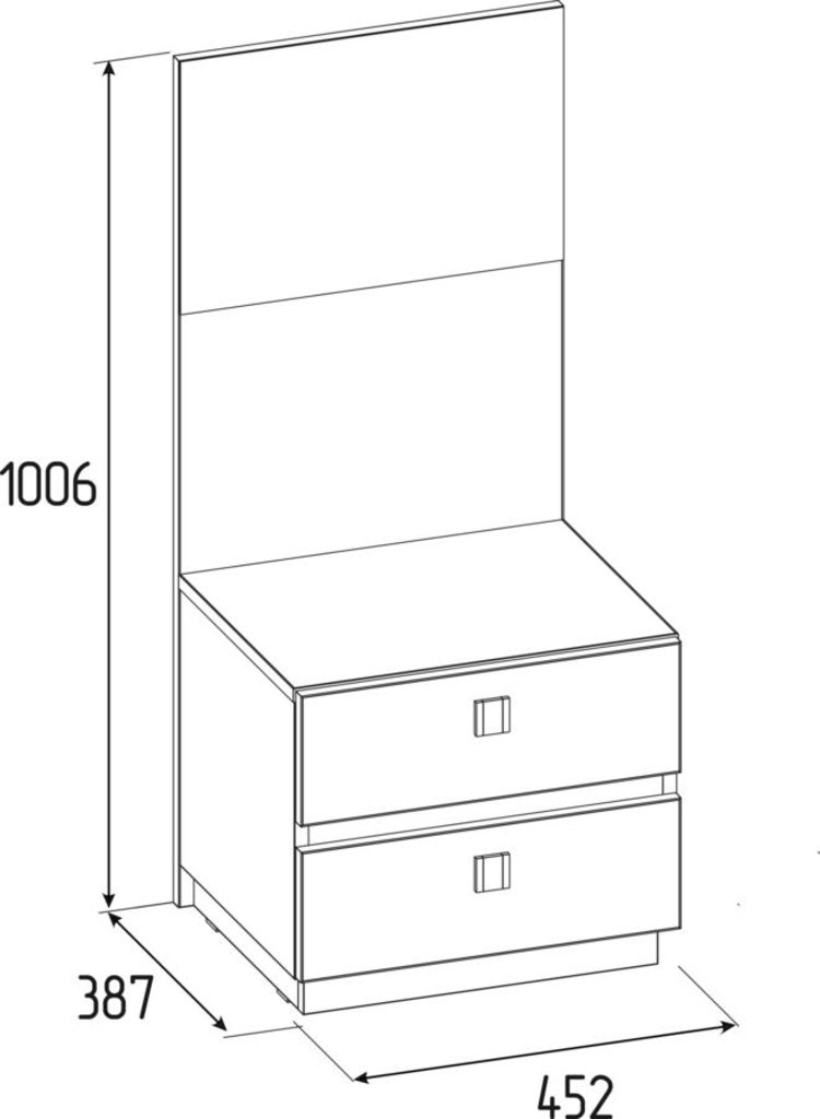 Прикроватные тумбочки: Тумба прикроватная Neo 41 в Стильная мебель