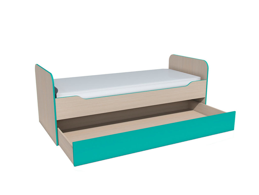 Детские и подростковые кровати: Кровать выкатная НМ 014.43 Рико (800x1900, усилен. настил) в Стильная мебель
