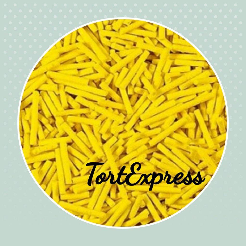 Посыпки декоративные: Посыпка сахарная вермишель желтая в ТортExpress