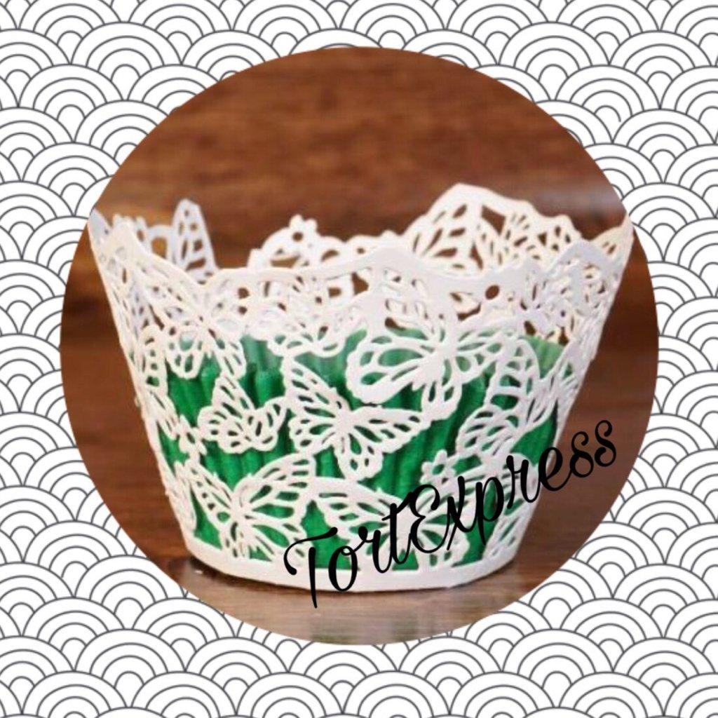 Декоративные формы для маффинов: Ажурные бумажные формы для украшения капкейков в ТортExpress