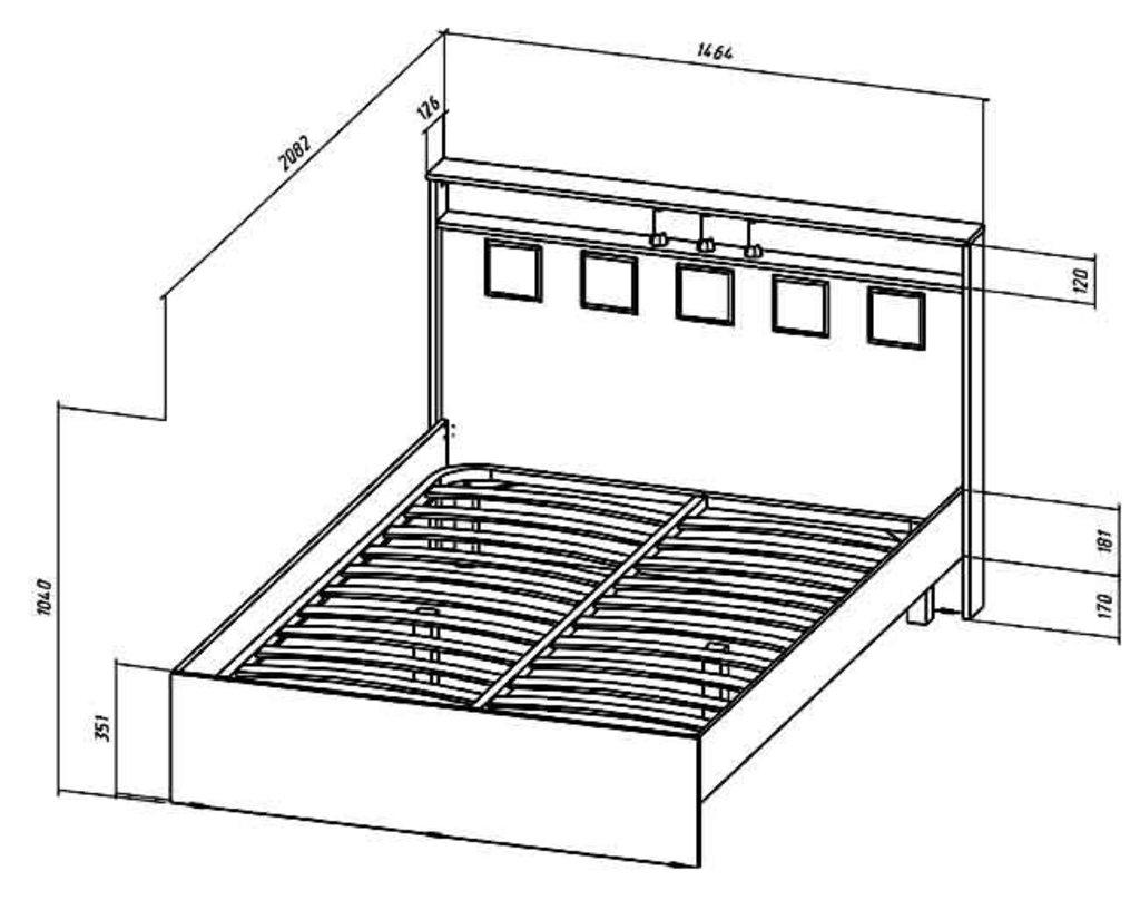 Мебель для спальни Коста-Рика. Модульная серия.: Кровать 2-х спальная 1400 Коста-Рика в Уютный дом