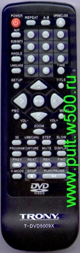TRONY: Пульт TRONY T-DVD5009X(DVD)аналог Changer в A-Центр Пульты ДУ