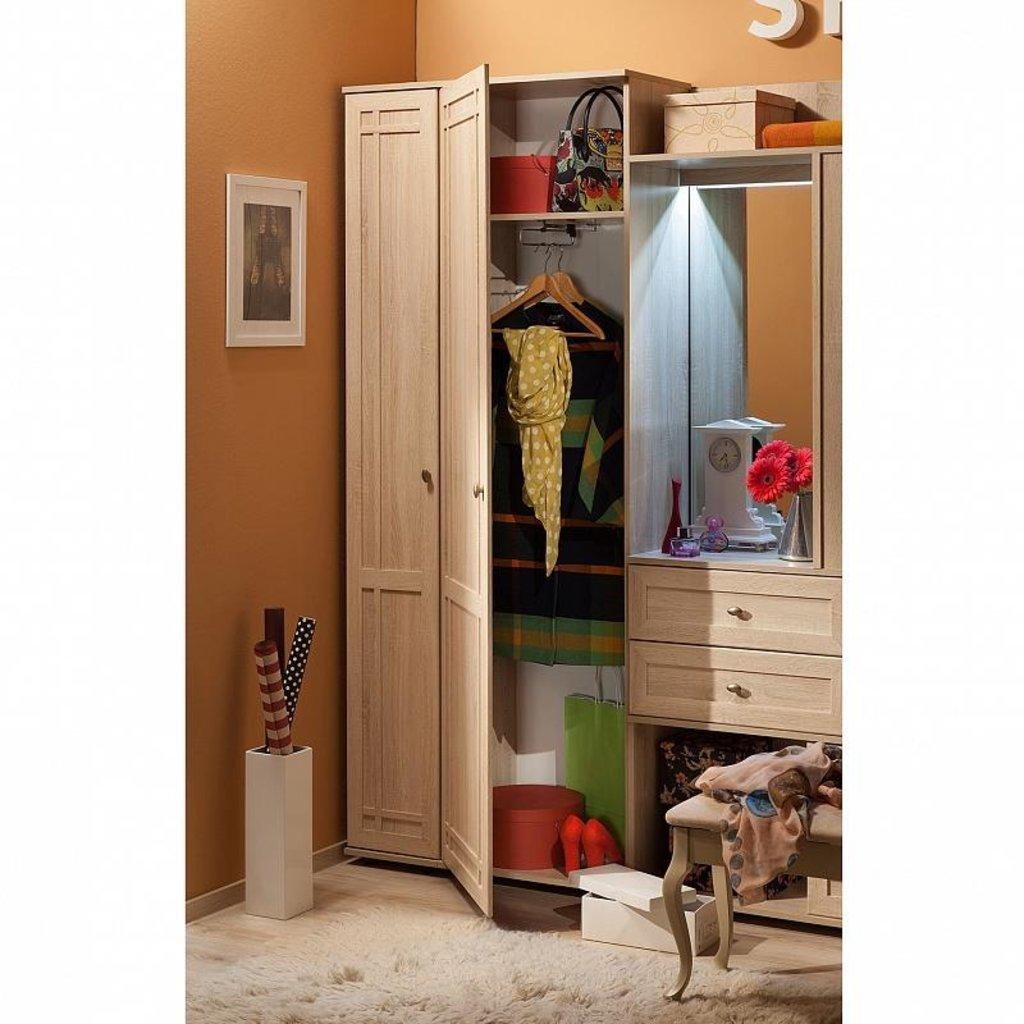 Шкафы для одежды и белья: Шкаф для одежды и белья левый Sherlock 71 в Стильная мебель