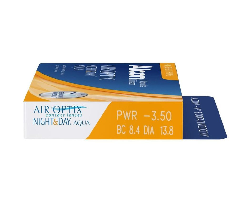 Контактные линзы: Контактные линзы AIR OPTIX Night & Day AQUA (3шт / 8.6) ALCON в Лорнет