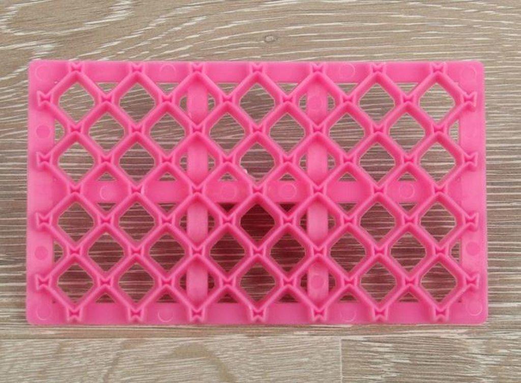 Кондитерский инвентарь: Печать для марципана Решетка с бантиком в ТортExpress