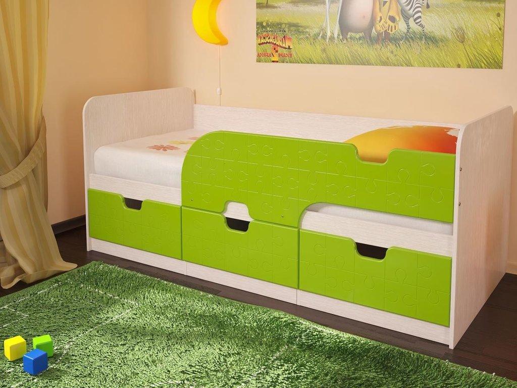 Детские: Кровать детская Минима Лего (лайм глянец) в Vesa