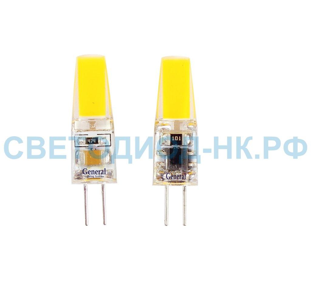 Цоколь G4, MR11, GY6.35: Светодиодная лампа GLDEN-G4-3-C-220-4500 в СВЕТОВОД