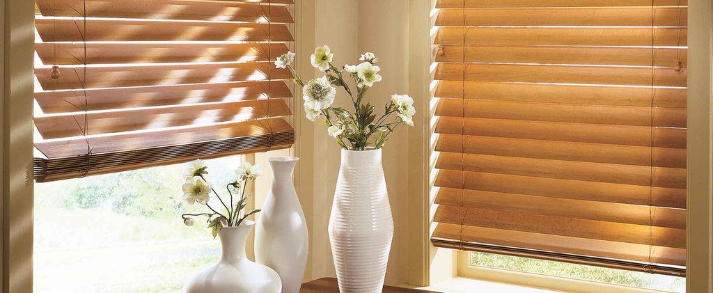 Горизонтальные жалюзи: Горизонтальные жалюзи из дерева и бамбука 50 мм в Салон штор, Виссон