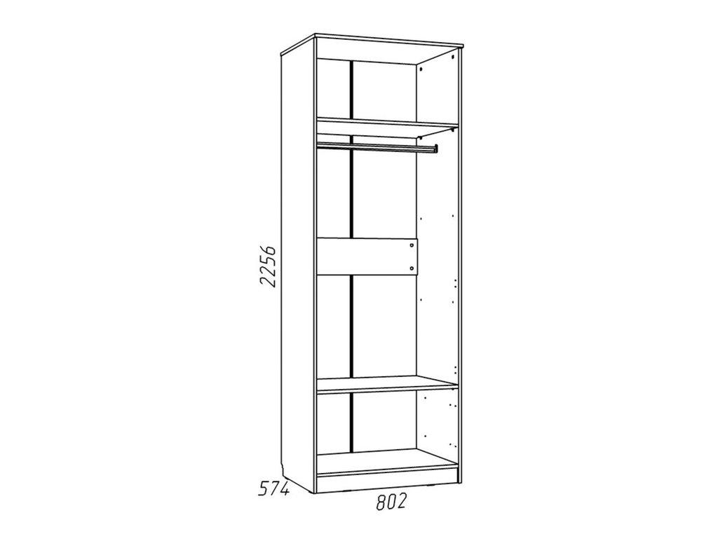Детские шкафы и стеллажи: Шкаф для одежды НМ 013.02-03 Рико в Стильная мебель