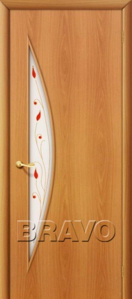 Двери ламинированные BRAVO: 5С Л-12 (МиланОрех) в STEKLOMASTER