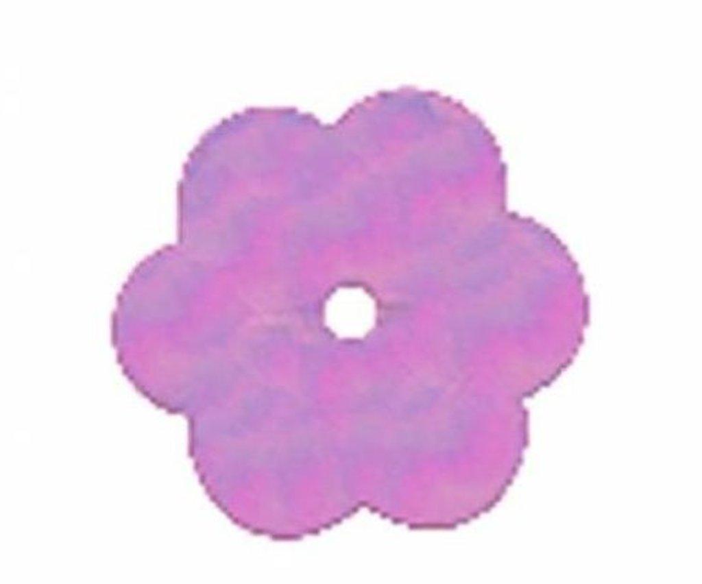 """Цветочки 10мм.: Пайетки""""Цветочки""""10мм.,упак/10гр.Астра(цвет:23 сиреневый) в Редиант-НК"""