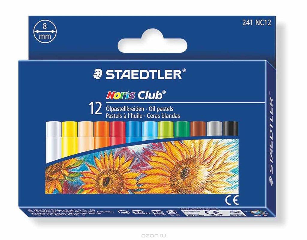 Пастель: Пастель STAEDTLER oil pastels, 12 цветов в Палитра