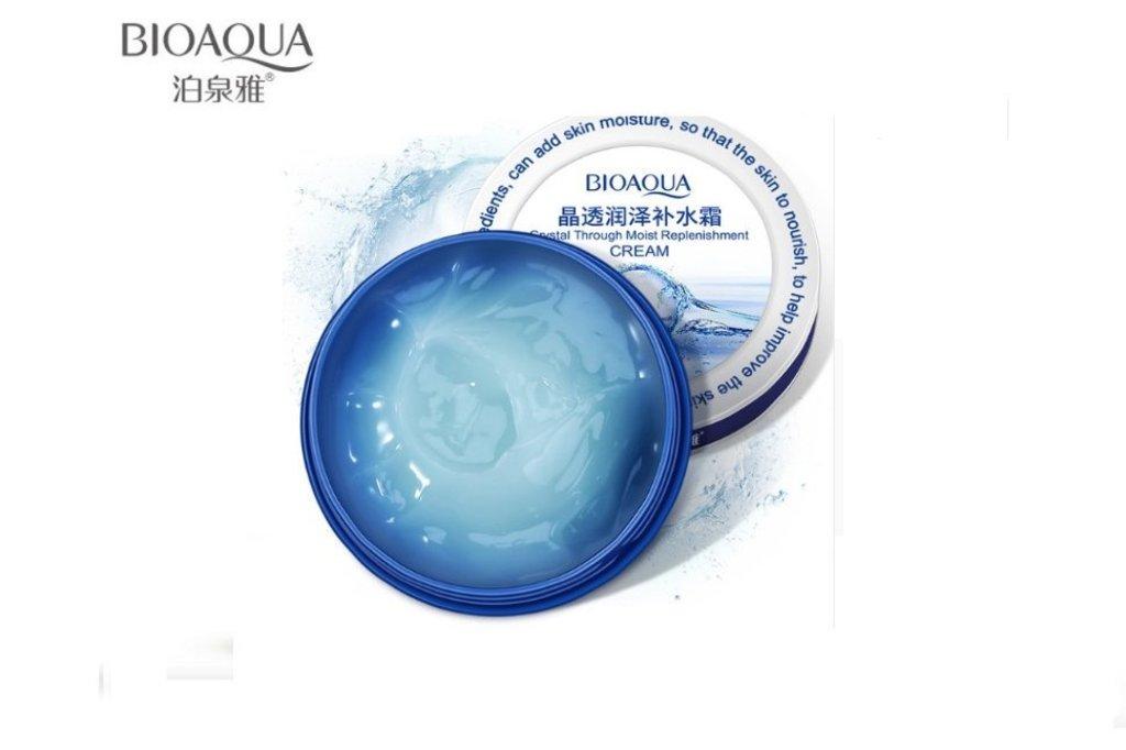 Крема, гели: Увлажняющий питательный крем с гиалуроновой кислотой Bioaqua Crystal Cream 38г в Мой флакон
