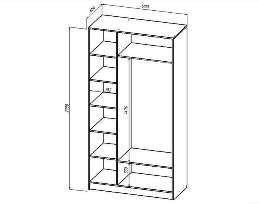 Мебель для спальни Соната. Модульная серия.: Шкаф 3-х створчатый серия Соната в Уютный дом