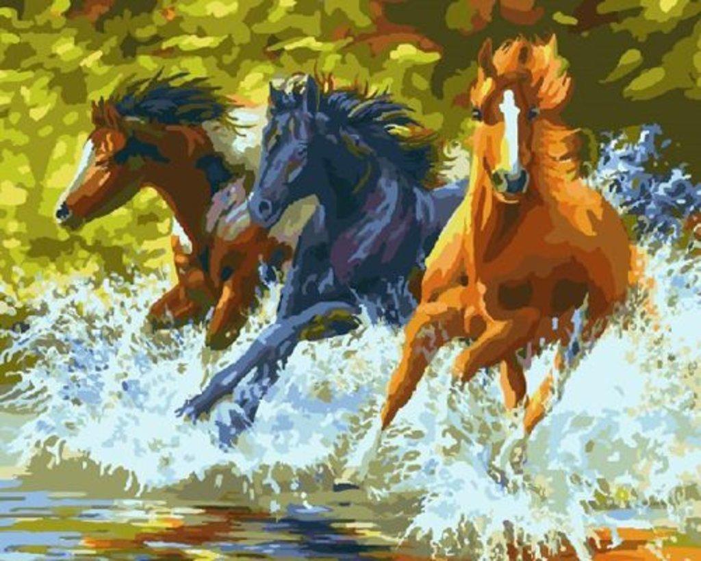 Картины по номерам: Картина по номерам Paintboy 40*50 Дикие скакуны GX7841 в Шедевр, художественный салон