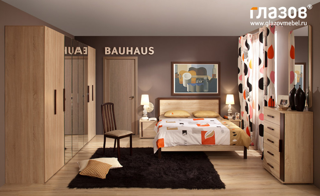 Кровати: Кровать BAUHAUS 3 (1400, орт. осн. металл) в Стильная мебель