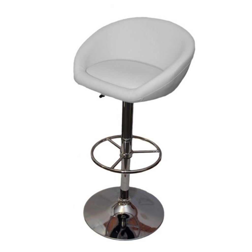 Стулья барные.: Барный стул PU02 (хром) в АРТ-МЕБЕЛЬ НН