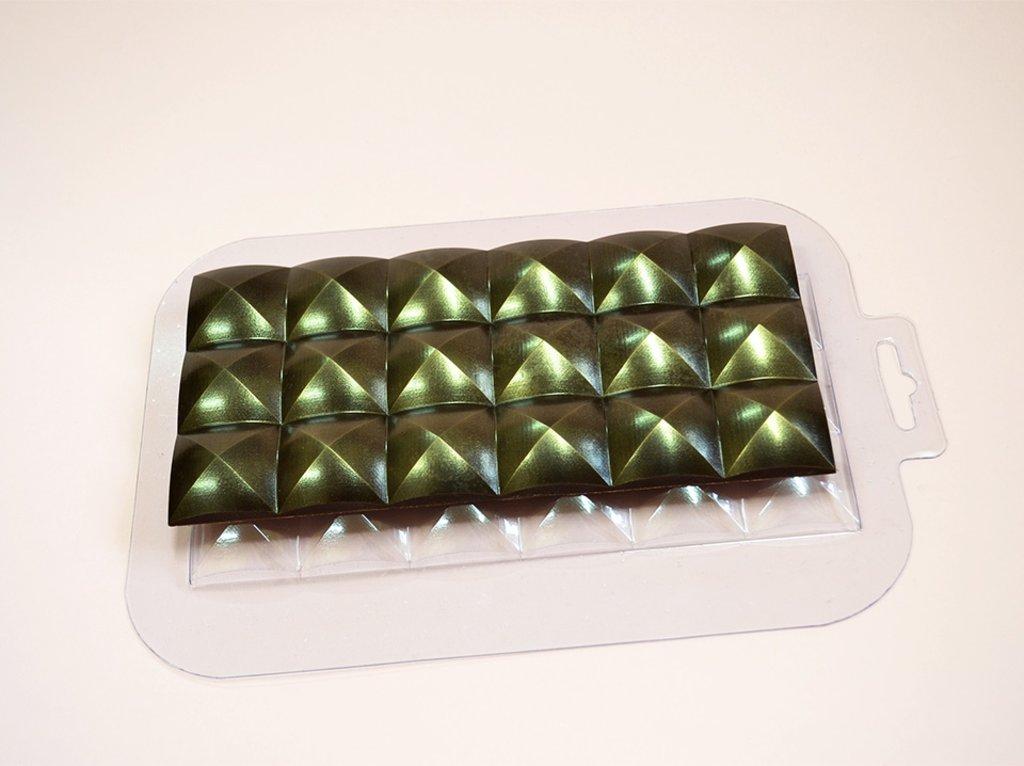 Пластиковые формы для шоколада: Форма для шоколада Плитка Купола в ТортExpress