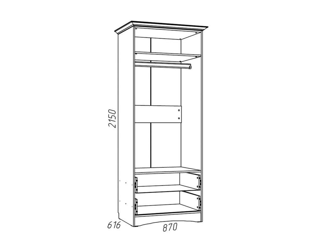 Детские шкафы и стеллажи: Шкаф для одежды НМ 009.16 Прованс в Стильная мебель