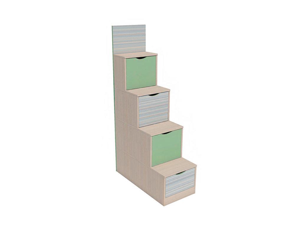 Детская мебель: Лестница с ящиками НМ 011.64 М Рико-М в Стильная мебель
