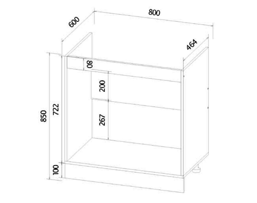 Мебель для кухни модульная серия Прага: Мойка 800. Кухня Прага в Уютный дом