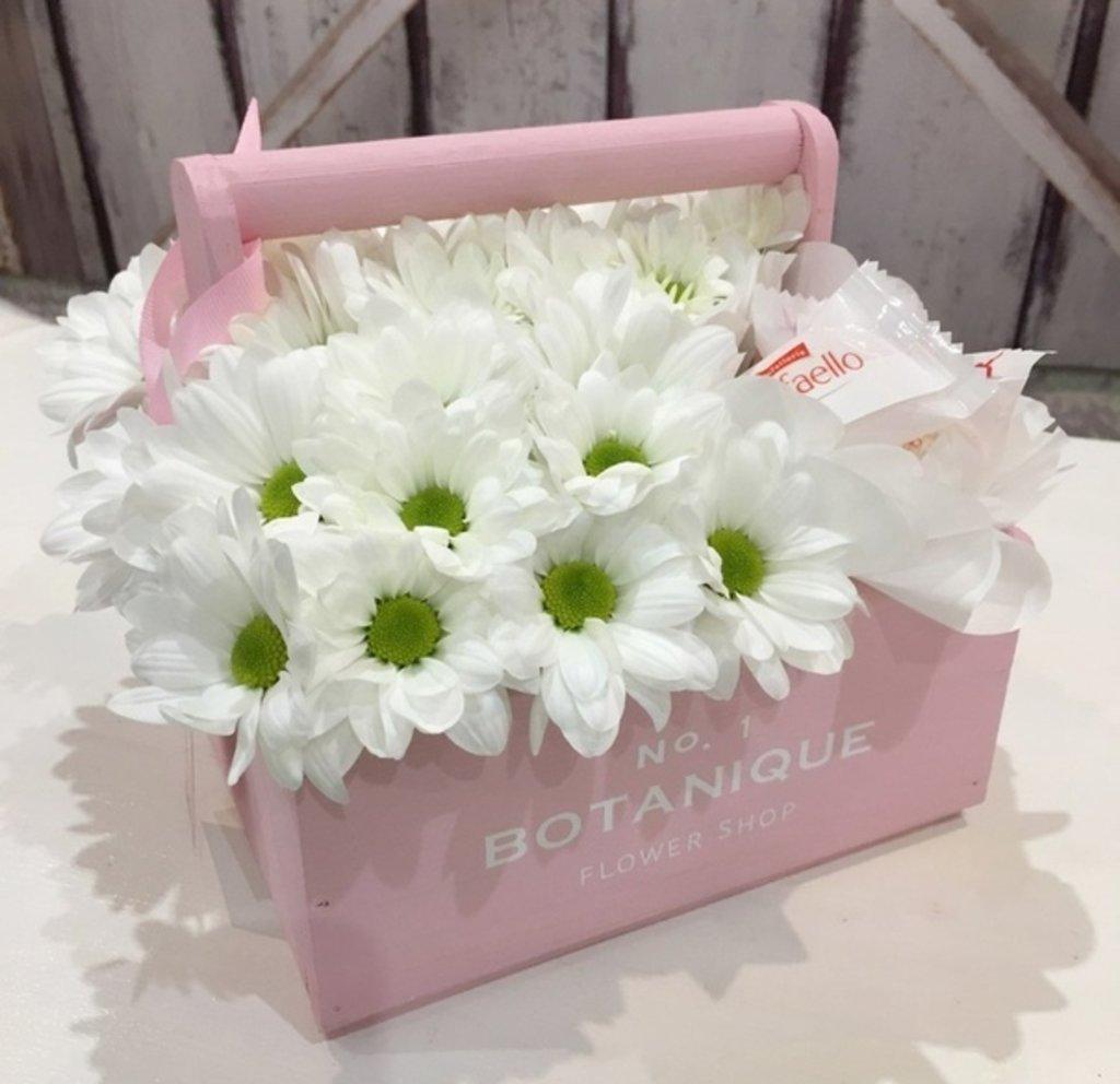 """Botanique CANDY: """"Botanique candy""""🍬 Цветы+сладости (Ромашки+Рафаэлло) в Botanique №1,ЭКСКЛЮЗИВНЫЕ БУКЕТЫ"""