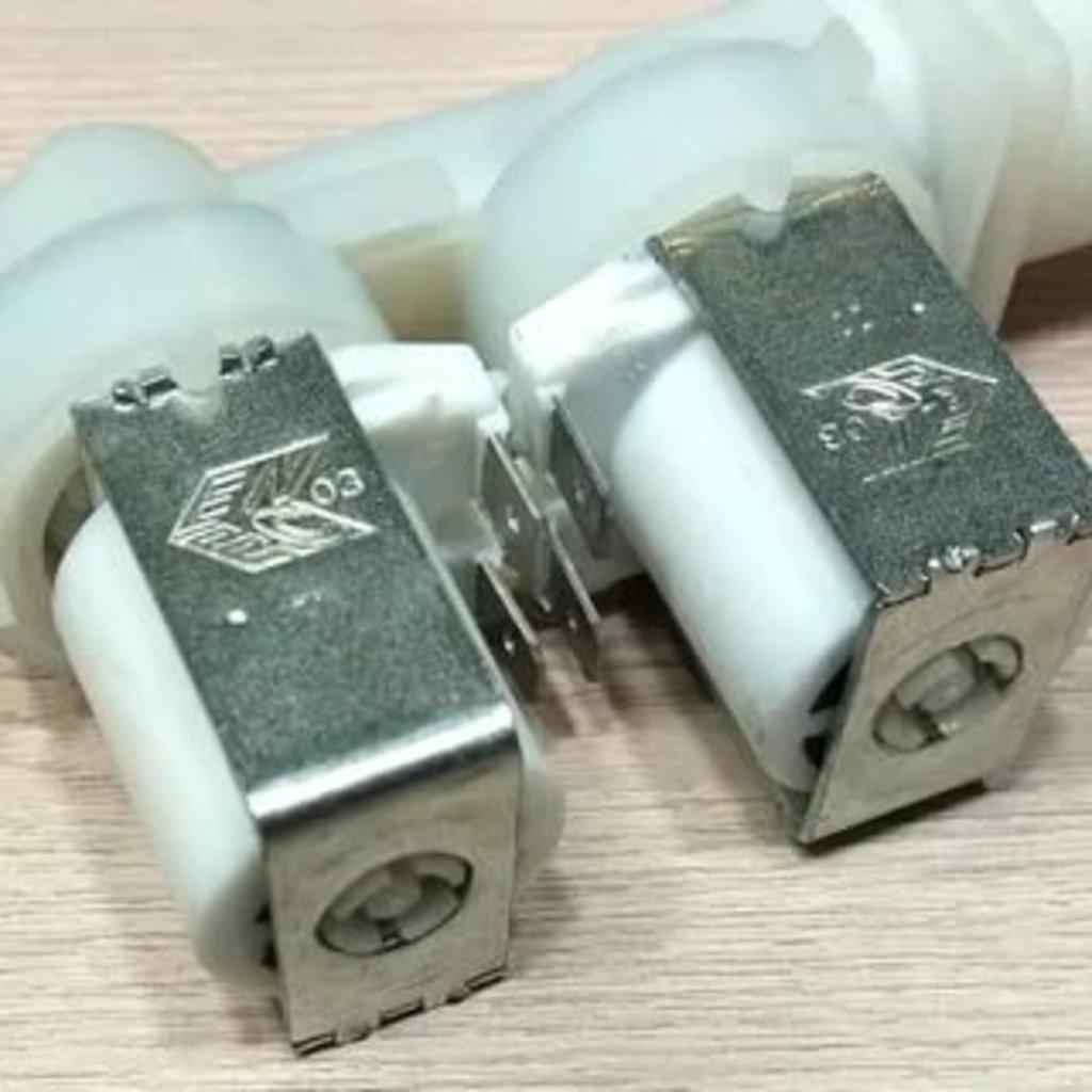 Запчасти для посудомоечных машин: Электроклапан (клапан наливной электромагнитный - КЭН) 1Wx180 (два соленоида-один выход) для шлангов АКВАстоп, 037207, 084558, 143737, 143737, C00143737 в АНС ПРОЕКТ, ООО, Сервисный центр