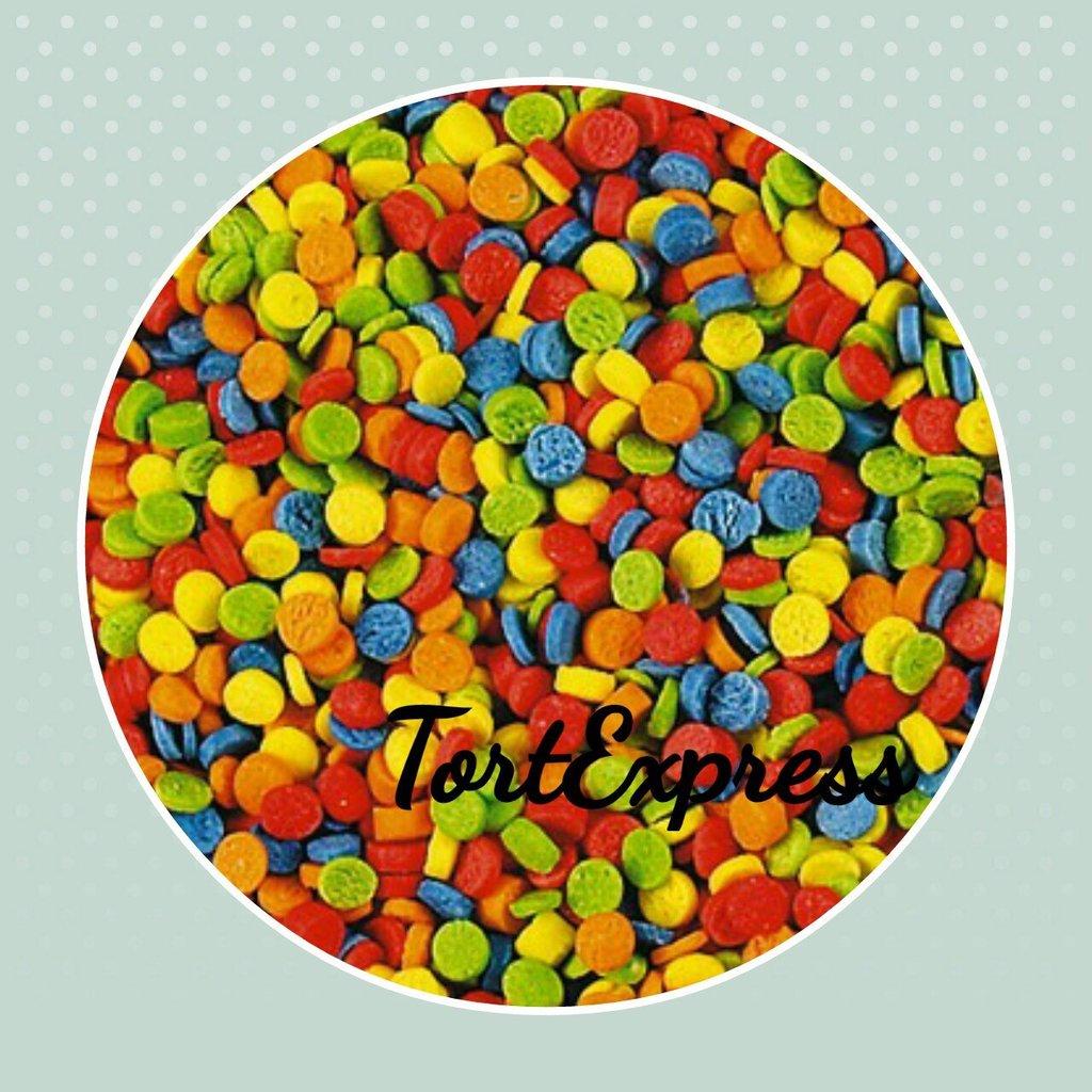 Посыпки декоративные: Посыпка сахарная Конфетти в ТортExpress