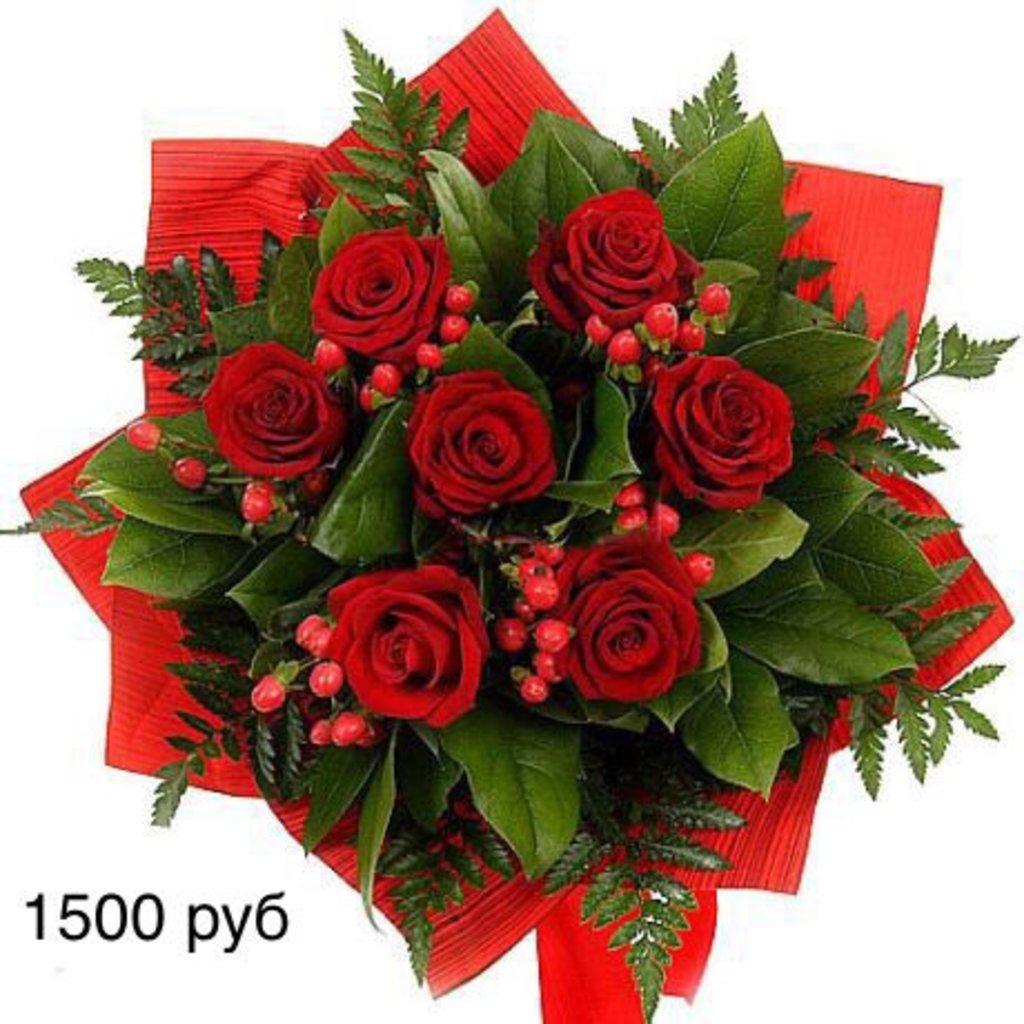Букеты: Букет из роз с ягодами в Николь, магазины цветов